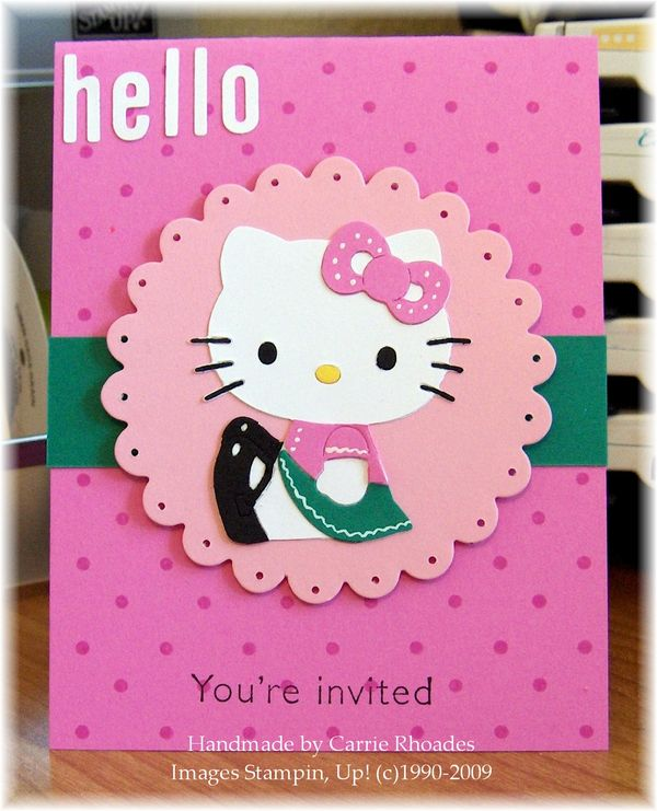 Hello Kitty Invite Carrie Stamps