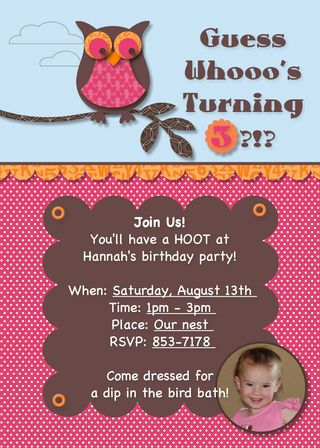 Owl birthday invite carrie stamps not sure if you know this about me i love pink and brown and a little girls owl themed birthday is the perfect place to use pink and brown filmwisefo