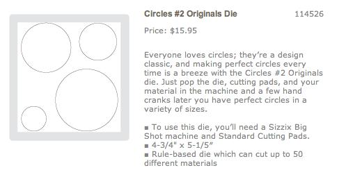 Circles die #2
