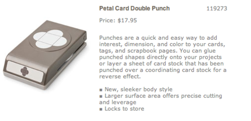 Petal card punch