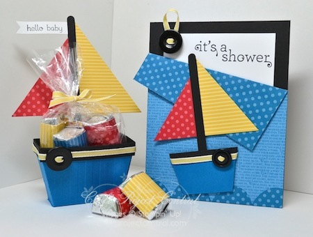 Sail Boat Party Favor & Pocket Card