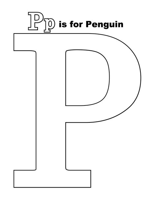 P is for penguin-001