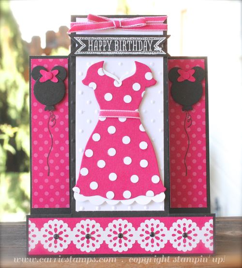 Minnie Mouse Birthday Card Carrie Stamps