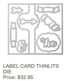Label card thinlits