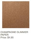 Champagne glimmer paper