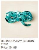 Bermuda sequin trim