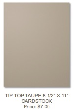 Taupe cardstock