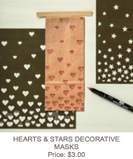 Hearts and stars masks