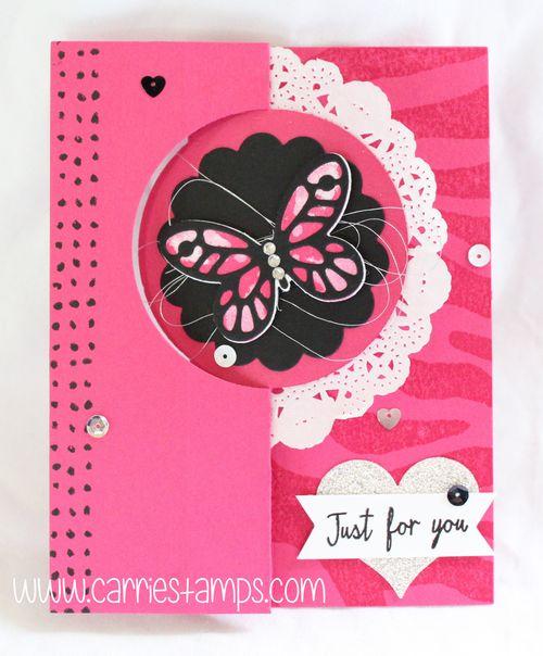 Watercolor wings pink