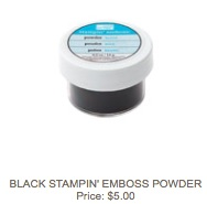 Black embossing powder
