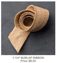 Burlap ribbon