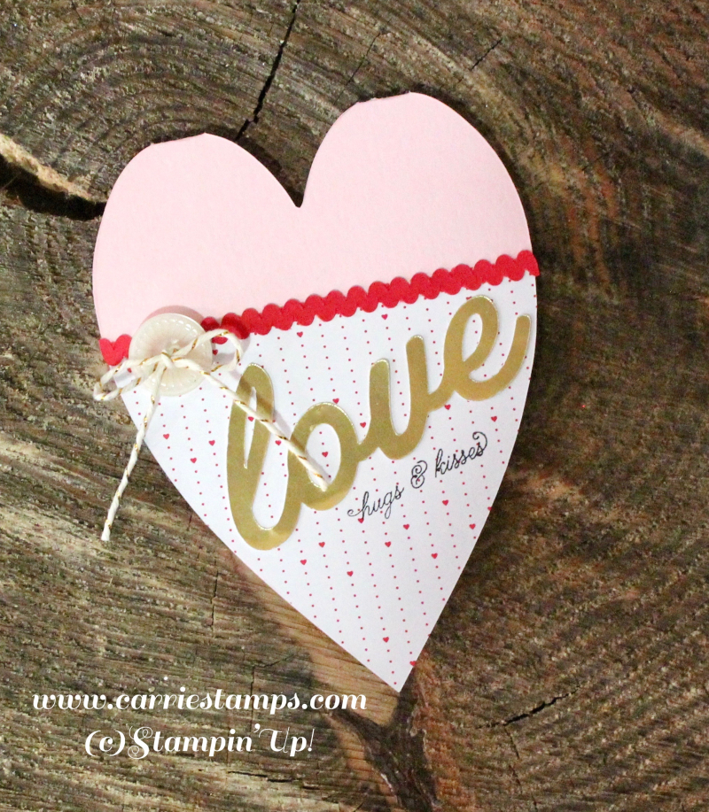 Heart shaped valentine card 3