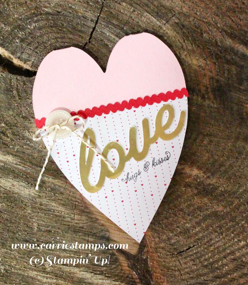 Heart shaped valentine card 3