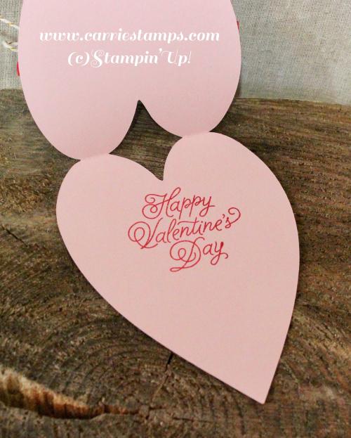 Heart shaped valentine card 4