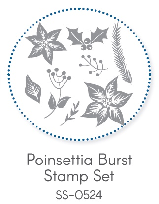 Poinsettia Burst Stamp Set