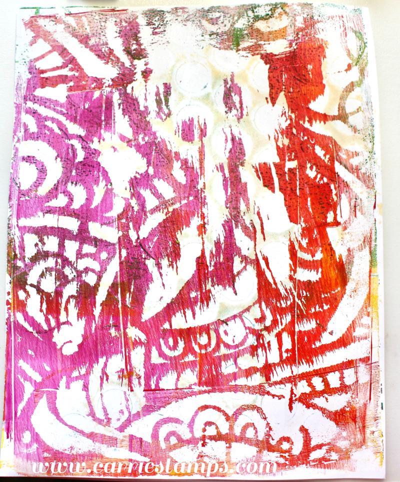 Stencil Picks up Dried Paint 2