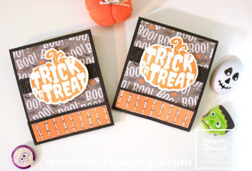 Halloween Silhouette Matchbook