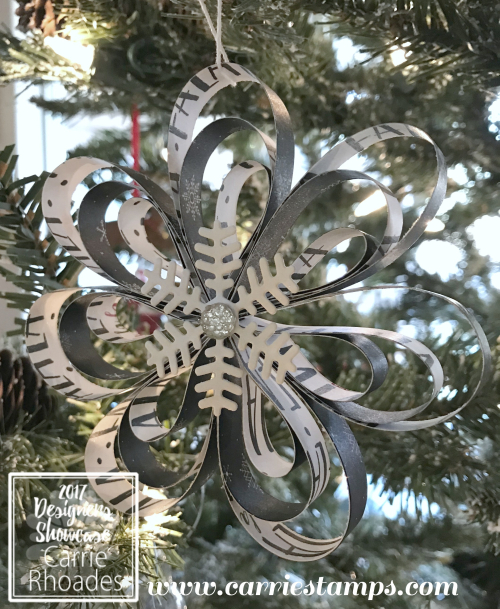 Christmas Flower Ornament 1