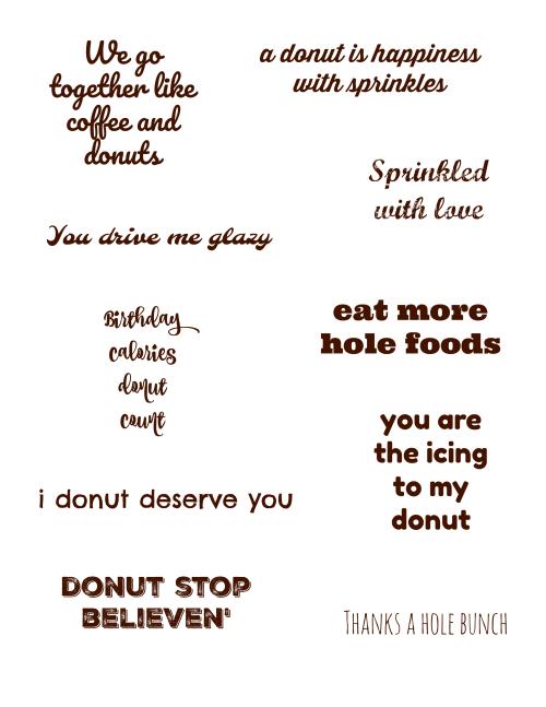 Donut sayings