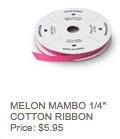 Melon cotton ribbon