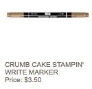 Crumb cake marker