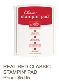 Real red pad