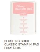 Blushing bride pad