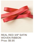 Red woven ribbon