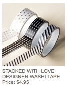 Stacked with love washi