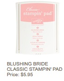 Blushing bride pad