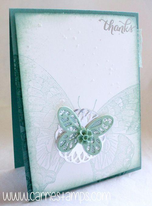 Swallowtail glitter splattering