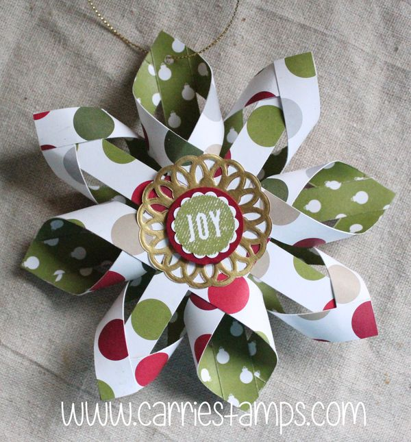 Woven Star Christmas Ornament - Carrie Stamps