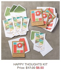 Happy thoughts card kit