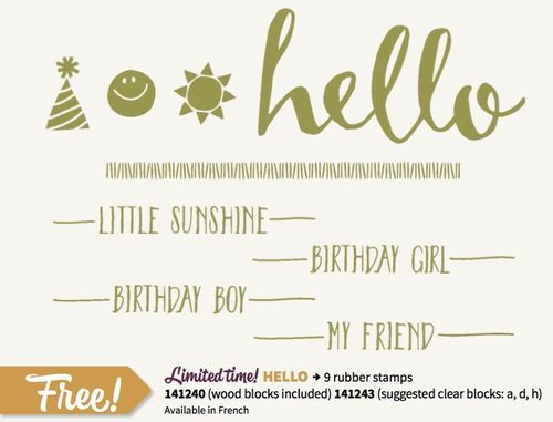 HELLO stamp set