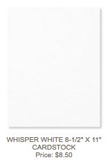 Whisper white cardstock