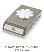 Flower medallion punch
