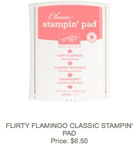 Flirty flamingo pad