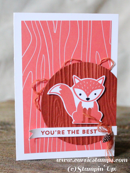 Foxy Friends Notecard 1