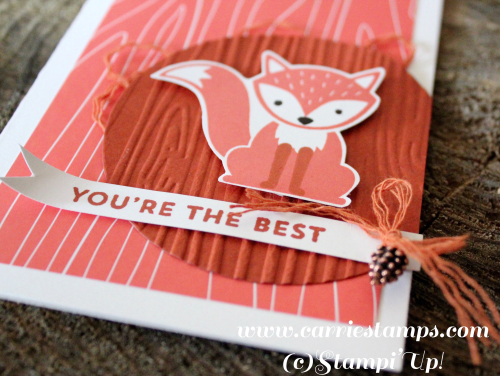 Foxy Friends notecard 3