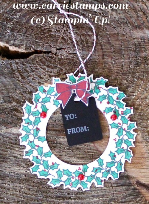 Holly Berry Happiness Wreath Tag 1