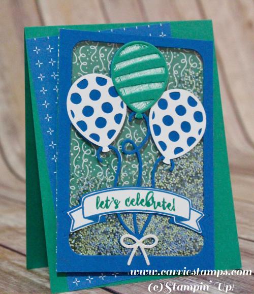 Balloon adventure shaker card