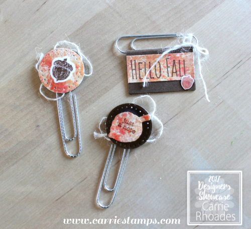 Fall planner clips