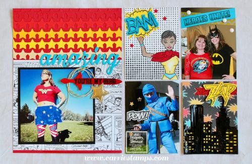 Super amazing scrapbook layout 1