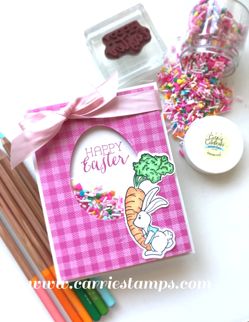 Easter Sprinkle Shaker card