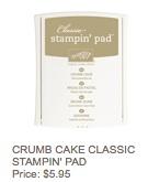 Crumb cake pad