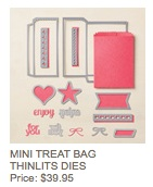 Mini treat bag dies