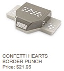 Confetti hearts punch