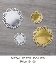 Metallic doilies