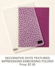 Dots embossing folder