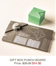 Gift box punch board sale